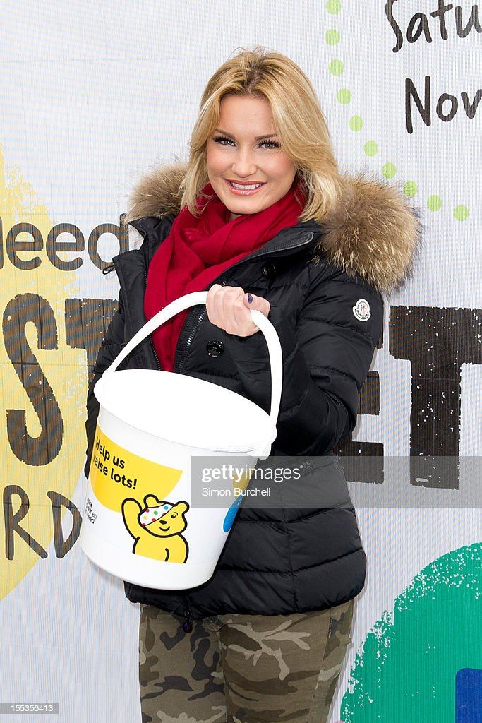 Sam Faiers attends the BBC Children In Need Pudsey Street event at Covent Garden on November 3, 2012 in London, England.