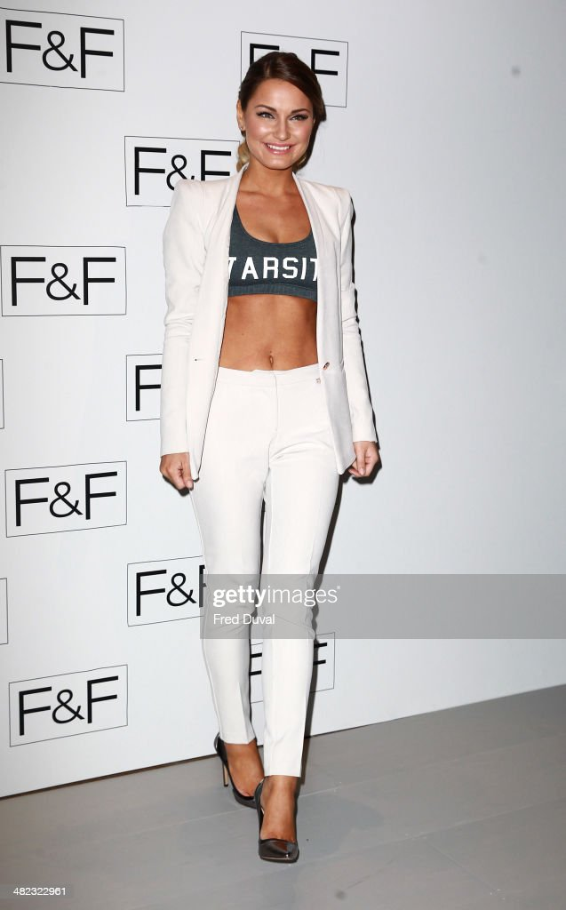 <a gi-track='captionPersonalityLinkClicked' href=/galleries/search?phrase=Sam+Faiers&family=editorial&specificpeople=7324872 ng-click='$event.stopPropagation()'>Sam Faiers</a> attends the F&F aw14 Fashion show at Somerset House on April 3, 2014 in London, England.