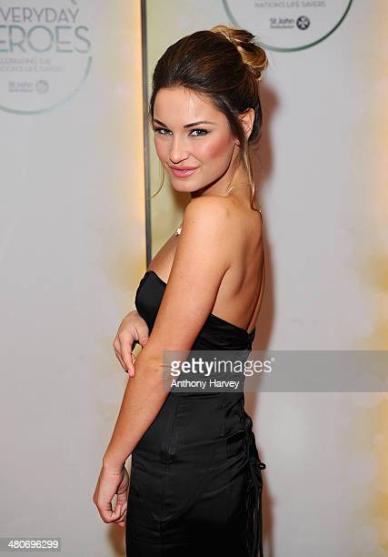 Sam Faiers attends the starstudded St John Ambulance Everyday Heroes celebration of the nation's life savers at the Royal Lancaster Hotel on March 26...