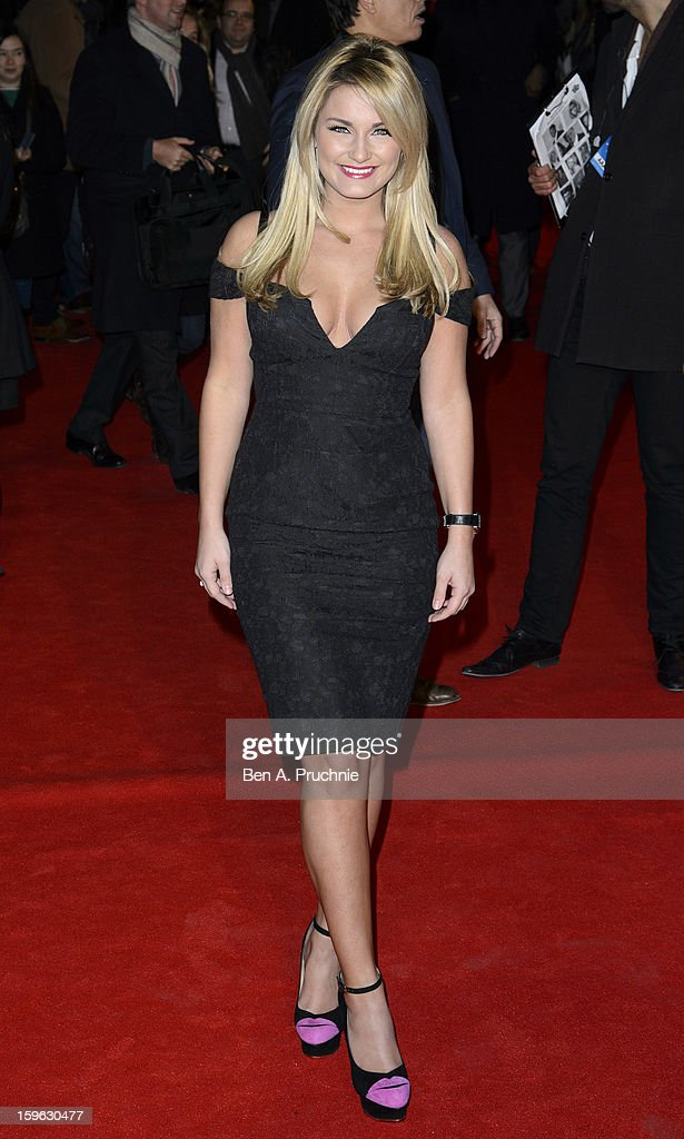 Sam Faiers attends the UK Premiere of 'Flight' at The Empire Cinema on January 17, 2013 in London, England.