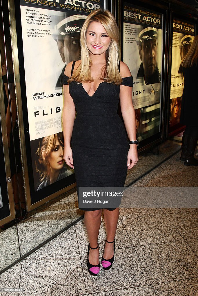 Sam Faiers attends the UK premiere of 'Flight' at The Empire Leicester Square on January 17, 2013 in London, England.