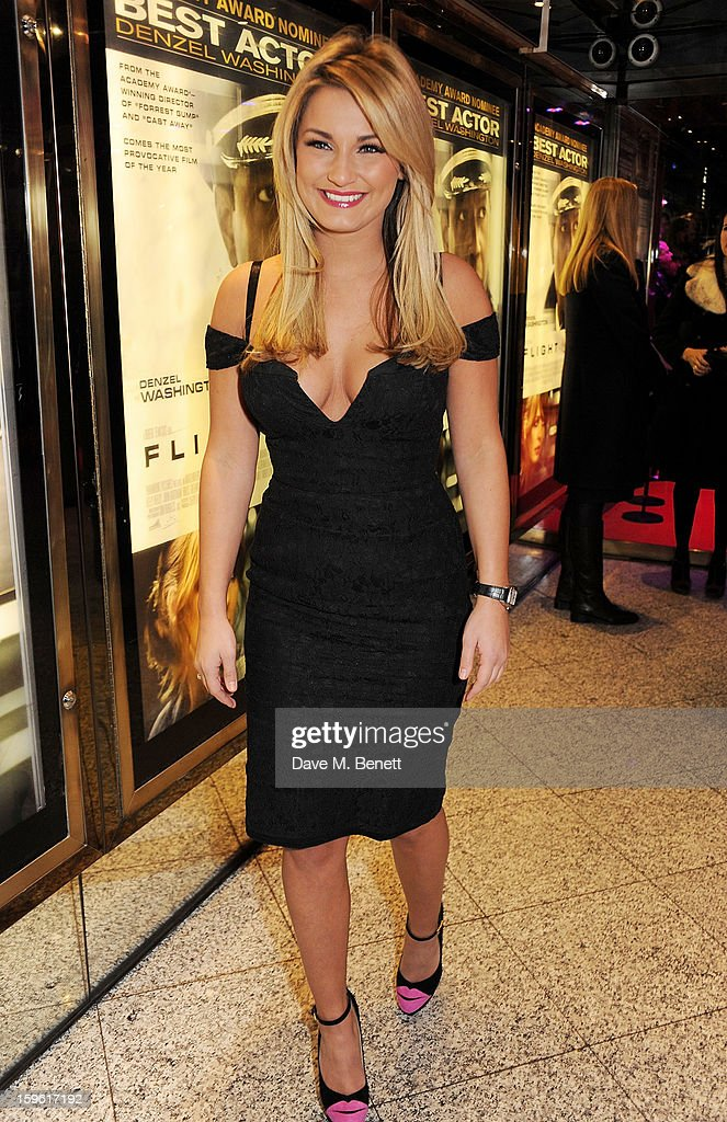 Sam Faiers attends the UK Premiere of 'Flight' at the the Empire Leicester Square on January 17, 2013 in London, England.