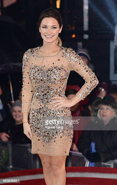Sam Faiers is evicted from the Celebrity Big Brother at Elstree Studios on January 29 2014 in Borehamwood England