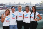 Sam Faiers Joey Essex Frankie Essex Lauren Goodger and Cara Kilbey of 'The only way is Essex' at the adidas Olympic Media Lounge at Westfield...