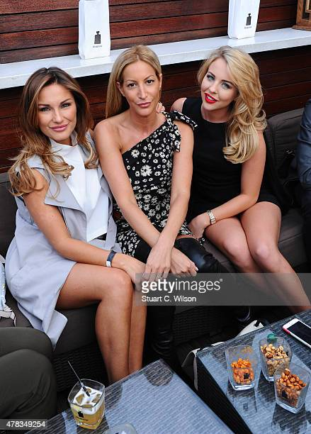 Sam Faiers Laura Pradelska and Lydia Bright at the launch of the DISARONNO Terrace at London's Golden Bee on June 24 2015 in London England Disaronno...