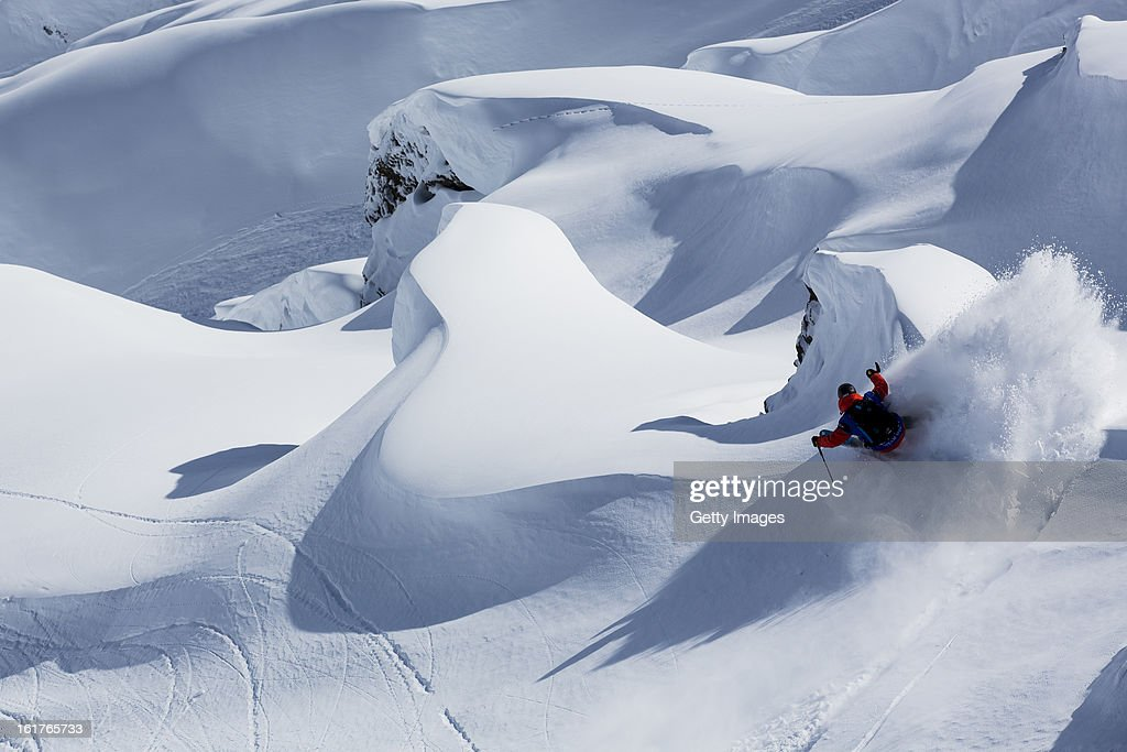 Sam Favret of France and Team Europe competes during day 1 of the Swatch Skiers Cup on February 10, 2013 in Zermatt, Switzerland.