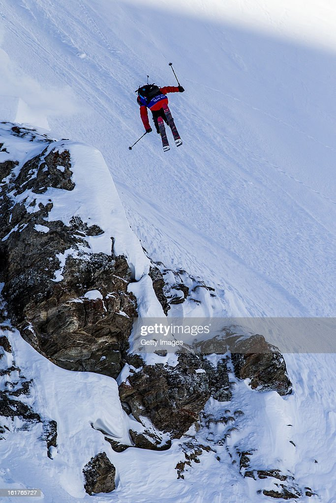 Sam Favret of France and Team Europe competes during day 5 of the Swatch Skiers Cup on February 14, 2013 in Zermatt, Switzerland.
