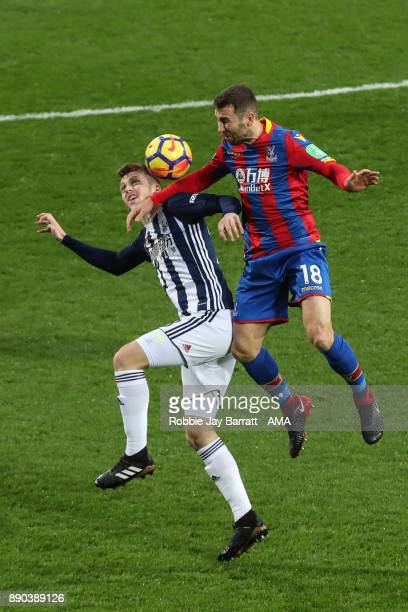 Sam Field of West Bromwich Albion and James McArthur of Crystal Palace during the Premier League match between West Bromwich Albion and Crystal...