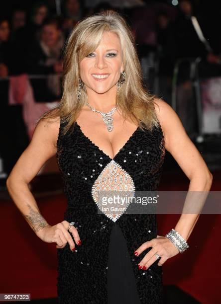 Sam Fox arrives on the red carpet for The Brit Awards 2010 at Earls Court on February 16 2010 in London England