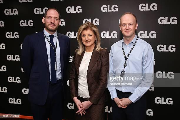 LR Sam Freedman SVP Technology Media and Telecom at GLG Arianna Huffington editorinchief at The Huffington Post and Alexander SaintAmand President...