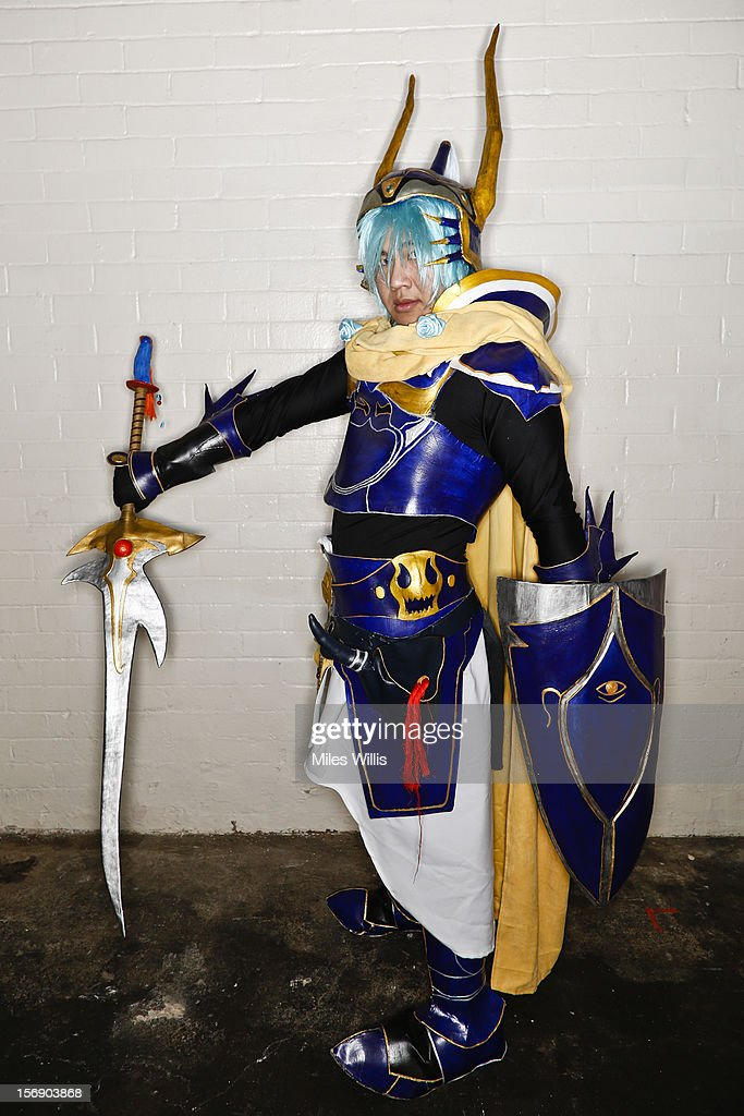 Sam from London as character 'Warrier of Light' from Final Fantasy attends Hyper Japan at Earl's Court on November 24, 2012 in London, England. Hyper Japan is the UK's biggest Japanese culture event with many of the visitors dressing as cosplay, anime and manga characters.