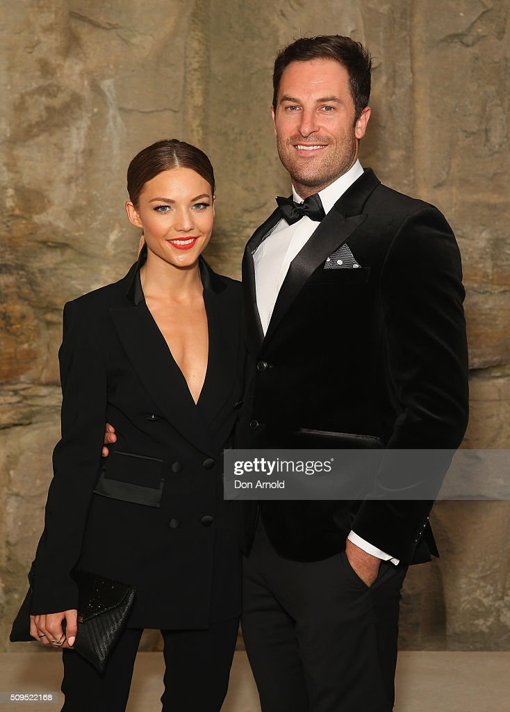 <a gi-track='captionPersonalityLinkClicked' href=/galleries/search?phrase=Sam+Frost+-+Reality+TV+Star&family=editorial&specificpeople=15103431 ng-click='$event.stopPropagation()'>Sam Frost</a> and Sasha Mielczarek arrives ahead of the Myer AW16 Fashion Launch at Barangaroo Reserve on February 11, 2016 in Sydney, Australia.