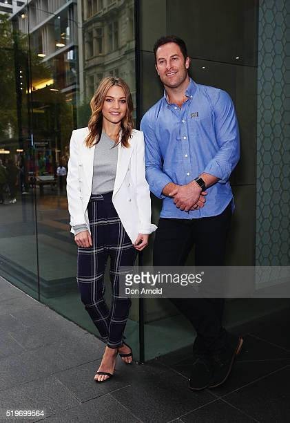 Sam Frost and Sasha Mielczarek attend the launch of Australia's Biggest Blood Pressure Check on April 8 2016 in Sydney Australia