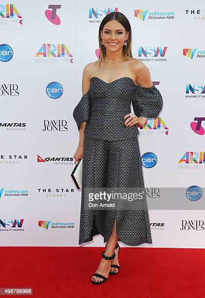 Sam Frost arrives for the 29th Annual ARIA Awards 2015 at The Star on November 26 2015 in Sydney Australia
