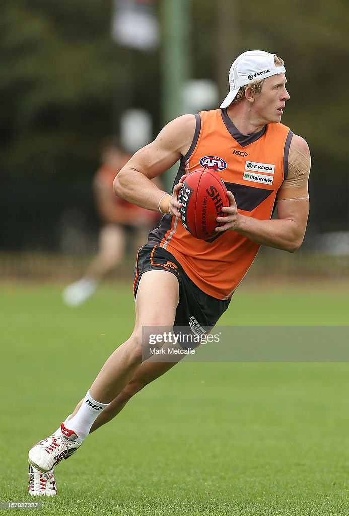 Sam Frost in action during a Greater Western Sydney Giants AFL pre-season training session at Lakeside Oval on November 28, 2012 in Sydney, Australia.