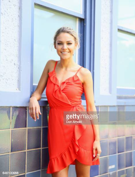 Sam Frost poses at the Australian Turf Club 2017 Sydney Carnival Launch at Royal Randwick Racecourse on February 28 2017 in Sydney Australia