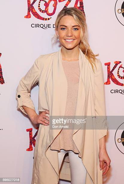 Sam Frost poses during the Cirque du Soleil KOOZA Sydney Premiere at The Entertainment Quarter on August 25 2016 in Sydney Australia