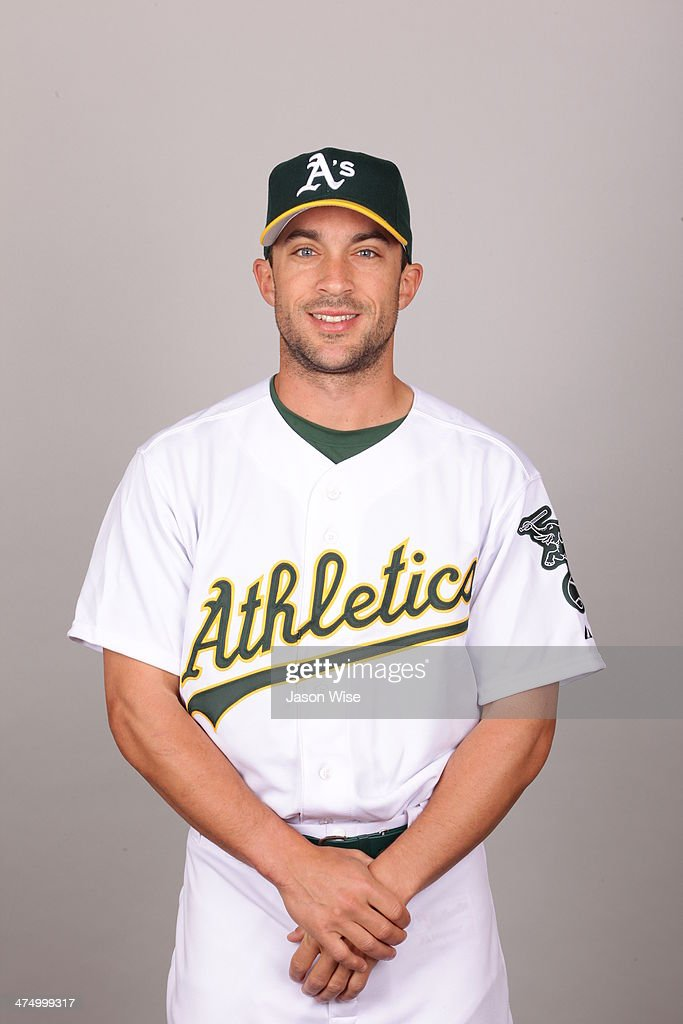 <a gi-track='captionPersonalityLinkClicked' href=/galleries/search?phrase=Sam+Fuld&family=editorial&specificpeople=4505687 ng-click='$event.stopPropagation()'>Sam Fuld</a> #29 of the Oakland Athletics poses during Photo Day on Saturday, February 22, 2014 at Phoenix Municipal Stadium in Phoenix, Arizona.