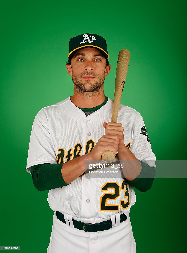 <a gi-track='captionPersonalityLinkClicked' href=/galleries/search?phrase=Sam+Fuld&family=editorial&specificpeople=4505687 ng-click='$event.stopPropagation()'>Sam Fuld</a> #23 of the Oakland Athletics poses for a portrait during the spring training photo day at HoHoKam Stadium on February 28, 2015 in Mesa, Arizona.