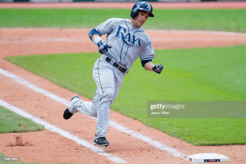 <a gi-track='captionPersonalityLinkClicked' href=/galleries/search?phrase=Sam+Fuld&family=editorial&specificpeople=4505687 ng-click='$event.stopPropagation()'>Sam Fuld</a> #5 of the Tampa Bay Rays rounds the bases on his way to a triple during the fourth inning against the Cleveland Indians at Progressive Field on June 2, 2013 in Cleveland, Ohio.