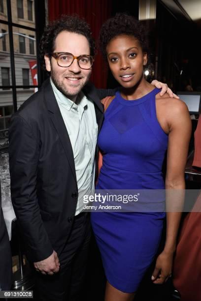 Sam Gold and Condola Rashad attend Designed To Celebrate A Toast To The 2017 Tony Awards Creative Arts Nominees at The Lamb's Club at the Chatwal NY