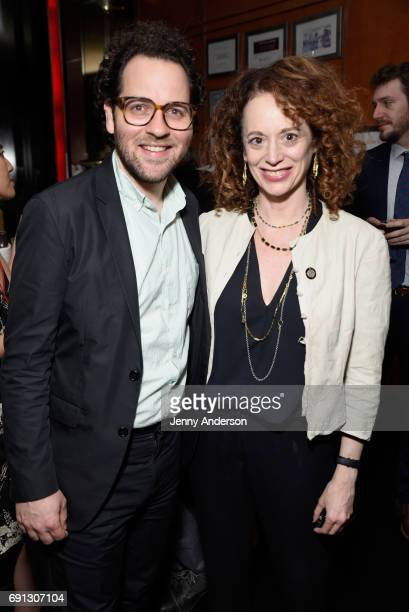 Sam Gold and Rebecca Taichman attend Designed To Celebrate A Toast To The 2017 Tony Awards Creative Arts Nominees at The Lamb's Club at the Chatwal NY