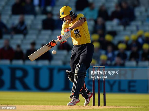 Sam Hain of Birmingham Bears bats during the NatWest T20 Blast between Birmingham Bears and Northants Steelbacks at Edgbaston on July 1 2016 in...