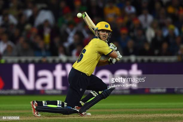 Sam Hain of Birmingham in action during the NatWest T20 Blast Final between Birmingham Bears and Notts Outlaws at Edgbaston on September 2 2017 in...