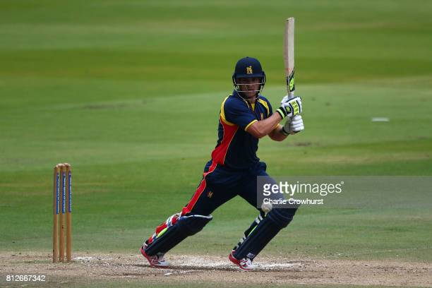 Sam Hain of MCC hits out during the MCC v Afghanistan cricket match at Lord's Cricket Ground on July 11 2017 in London England