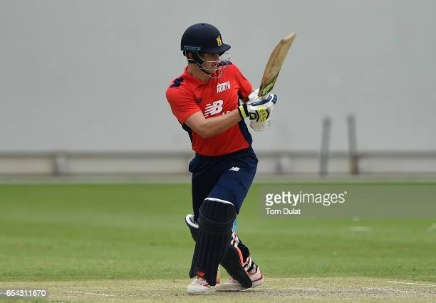 Sam Hain of The North bats during Game One of the ECB North versus South Series at Dubai International Cricket Ground on March 17 2017 in Dubai...