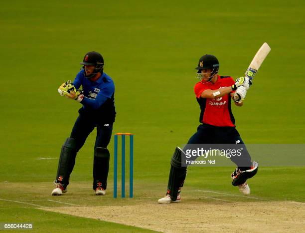 Sam Hain of The North bats during Game Three of the ECB North versus South Series at Zayed Stadium on March 21 2017 in Abu Dhabi United Arab Emirates