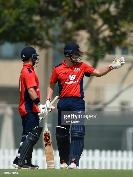 Sam Hain of The North during their warm up session prior to the ECB North versus South Series on March 15 2017 in Dubai United Arab Emirates