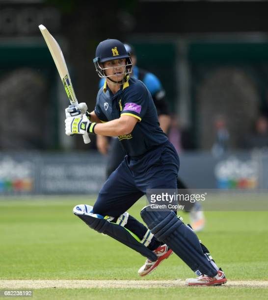 Sam Hain of Warwickshire bats during the Royal London OneDay Cup match Worcestershire and Warwickshire at New Road on May 12 2017 in Worcester England