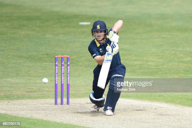 Sam Hain of Warwickshire batting during the Royal London OneDay Cup match between Worcestershire Rapids and Warwickshire at New Road on May 12 2017...