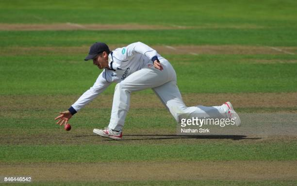 Sam Hain of Warwickshire fielding during the County Championship Division One match between Warwickshire and Essex at Edgbaston on September 13 2017...