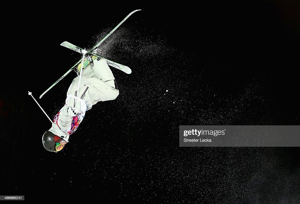 Sam Hall of Australia trains during moguls practice at the Extreme Park at Rosa Khutor Mountain ahead of the Sochi 2014 Winter Olympics on February 5, 2014 in Sochi, Russia.