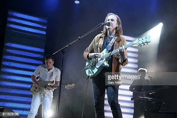 Sam Halliday Alex Trimble and Jacob Berry of Two Door Cinema Club perform in concert during the Austin City Limits Music Festival at Zilker Park on...
