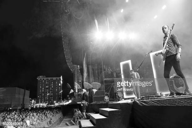 Sam Halliday and Alex Trimble of Two Door Cinema Club perform on Downtown Stage during day 1 of the 2017 Life Is Beautiful Festival on September 22...