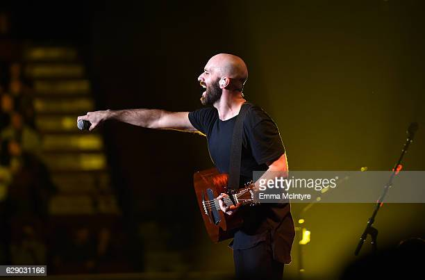 Sam Harris of the band X Ambassadors performs onstage at 1067 KROQ Almost Acoustic Christmas 2016 Night 1 at The Forum on December 10 2016 in...