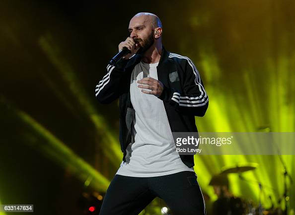 Sam harris of x ambassadors performs during super bowl 51 opening
