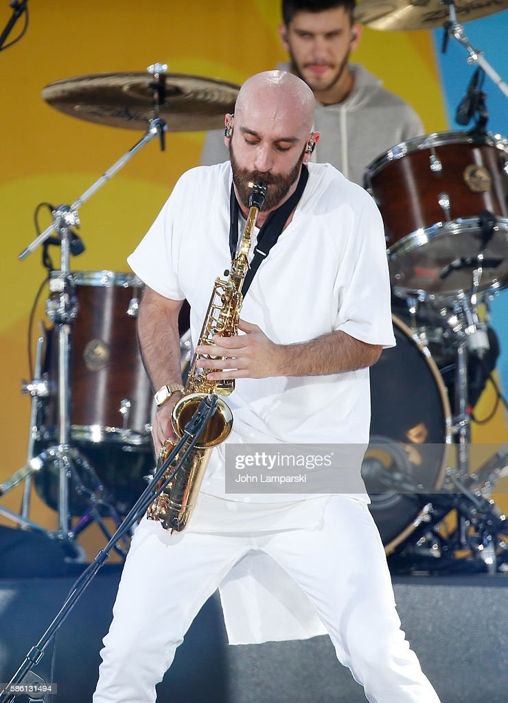 Sam Harris of X Ambassadors performs onstage on ABC's 'Good Morning America' at SummerStage at Rumsey Playfield Central Park on August 5 2016 in New...
