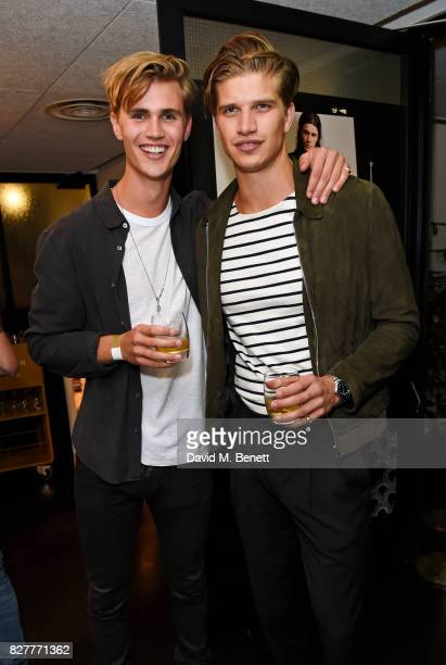 Sam Harwood and Toby HuntingtonWhiteley attend the launch of James Bay's new Topman collection at The Ace Hotel on August 8 2017 in London England
