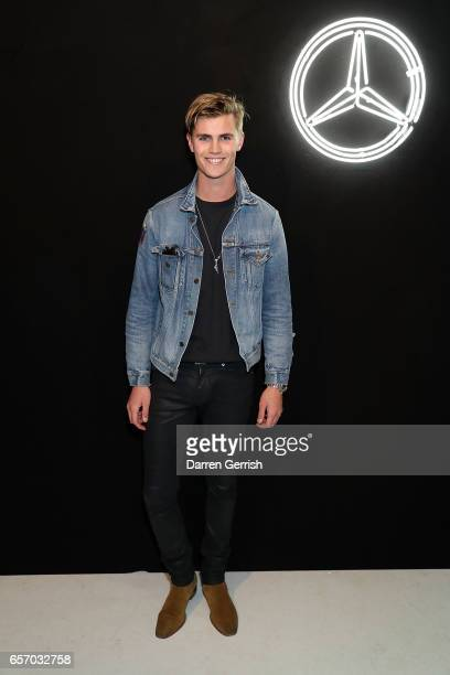 Sam Harwood attends the MercedesBenz #MBCOLLECTIVE Chapter 1 launch party with M I A and Tommy Genesis on March 23 2017 in London United Kingdom