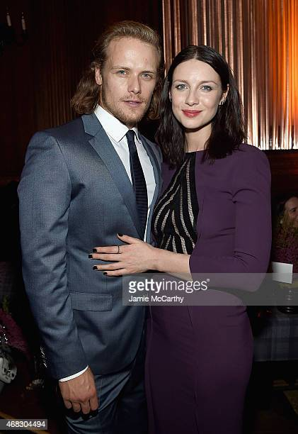 Sam Heughan and Caitriona Balfe attend the 'Outlander' MidSeason New York Premiere after party at The Oak Room on April 1 2015 in New York City