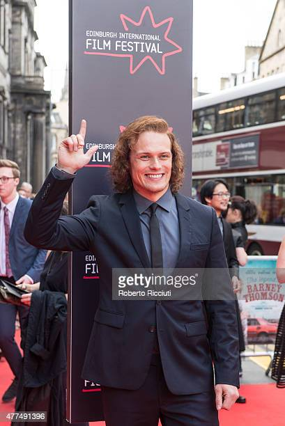 Sam Heughan attends the Opening Night Gala and World Premiere of 'The Legend of Barney Thomson' during the Edinburgh International Film Festival 2015...
