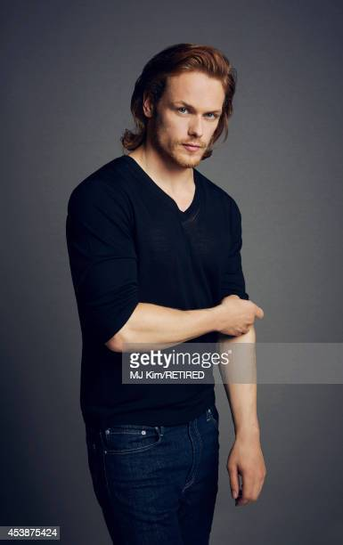 Sam Heughan poses for a portrait at the Getty Images Portrait Studio powered by Samsung Galaxy at ComicCon International 2014 on July 24 2014 in San...