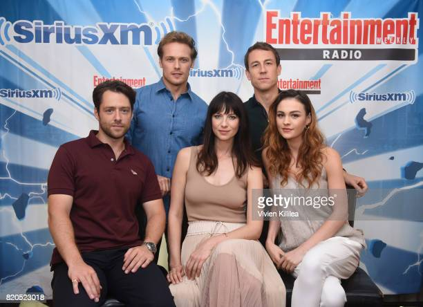 Sam Heughan Tobias Menzies Catriona Balfe Richard Rankin and Sophie Skelton attend SiriusXM's Entertainment Weekly Radio Channel Broadcasts From...