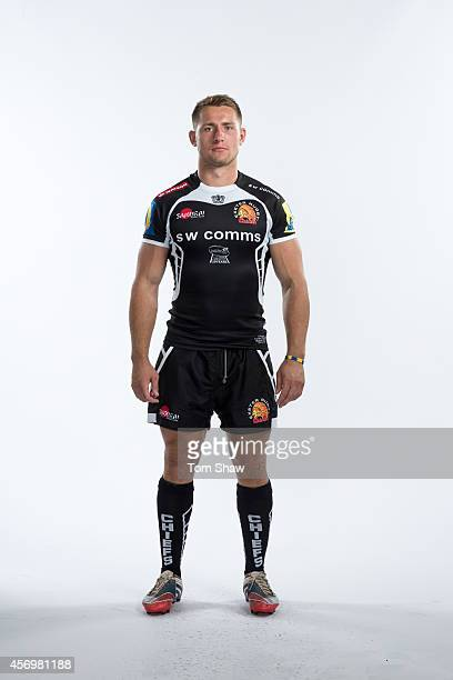 Sam Hill of Exeter Chiefs poses for a picture during the BT Photo Shoot at Sandy Park on August 26 2014 in Exeter England