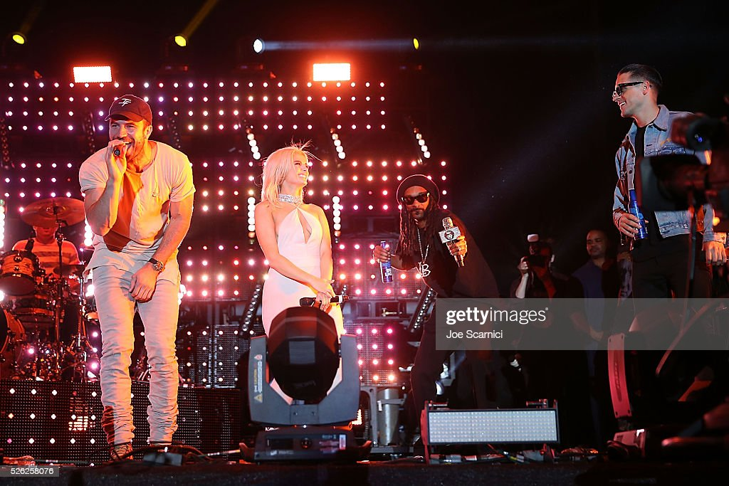 Sam Hunt Bebe Rexha Snoop Dogg and GEazy bring a Bud Light Music Stage Moment to Stagecoach 2016 at The Empire Polo Club on April 29 2016 in Indio...