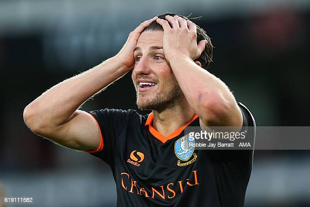 Sam Hutchinson of Sheffield Wednesday showing frustration during the Sky Bet Championship match between Derby County and Sheffield Wednesday at iPro...